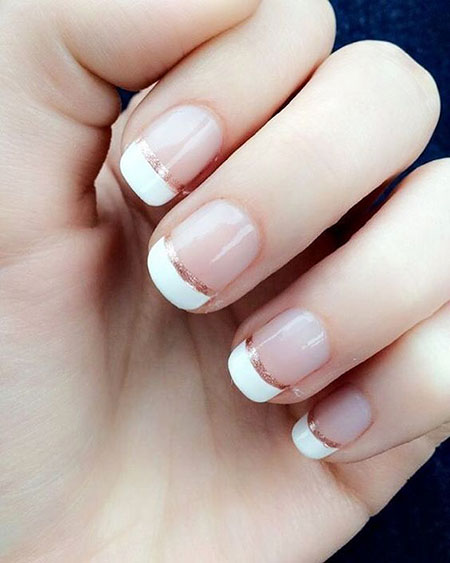 French Manicure Easy Short