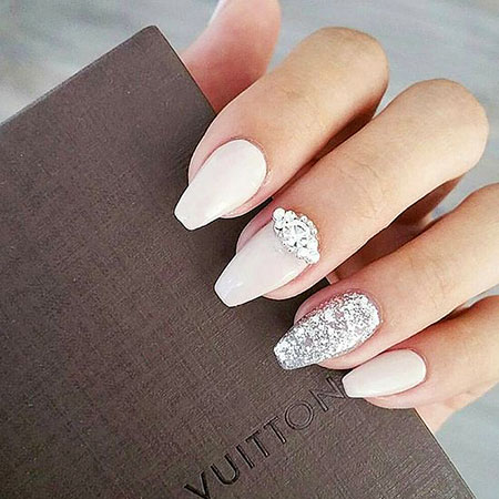 Wedding Silver Manicure Gem