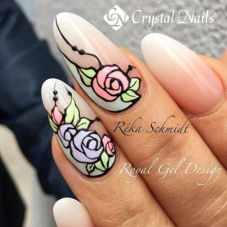 Manicure Flower Rose