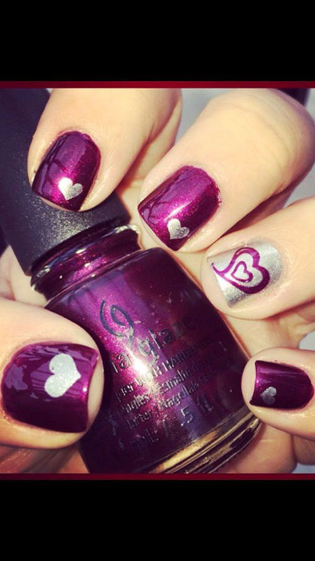 Polish Manicure Day Valentine