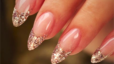Glitter Acrylic French Shaped