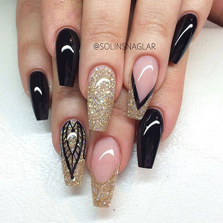 Stiletto Pink Black Acrylic