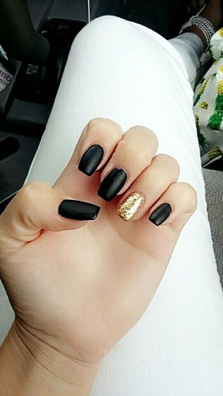 Gold Black Manicure Matte