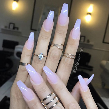 Coffin Pink Ombre Claw
