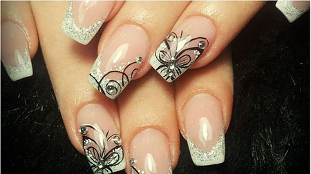 Love Manicure Butterfly French