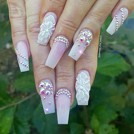 Coffin Gold Nails, 3D Claw Coffin Gold