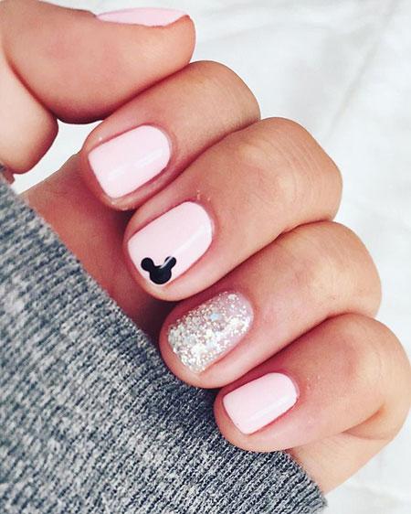Disney Nail Art Design, Manicure Disney Glistening Glimmering