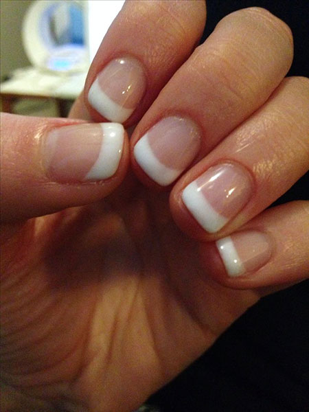 French Manicure Short Ideas