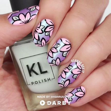 Manicure Cute Floral Spring