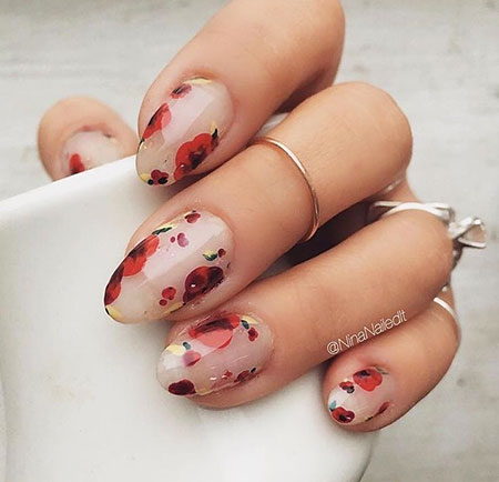 Manicure Natural Wedding Floweral