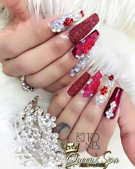 Too Long Nail Art, Amazing Color Natural Luxury