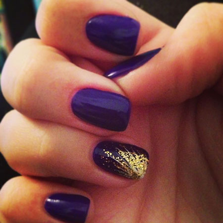 Gold Purple Manicure Easy