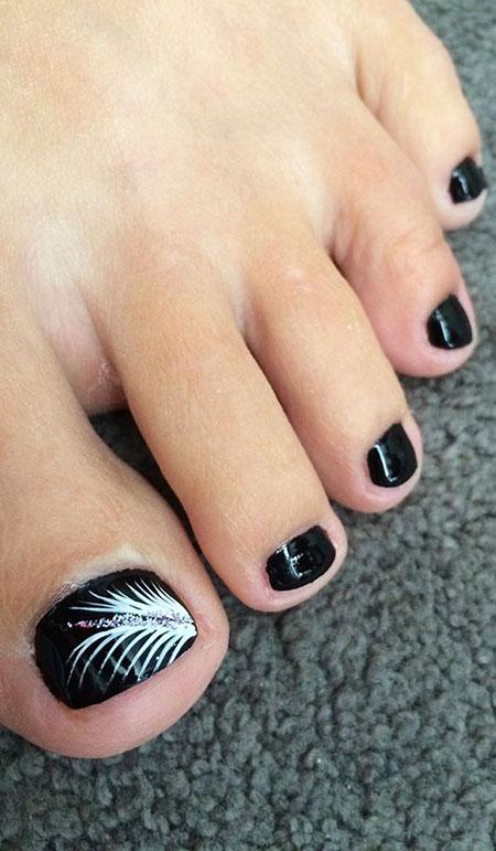 Classy Toe Nail Design Black, Toe Black Toes Home
