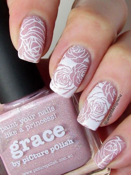 3D Rose Nails, Pretty Manicure Flower Ideas