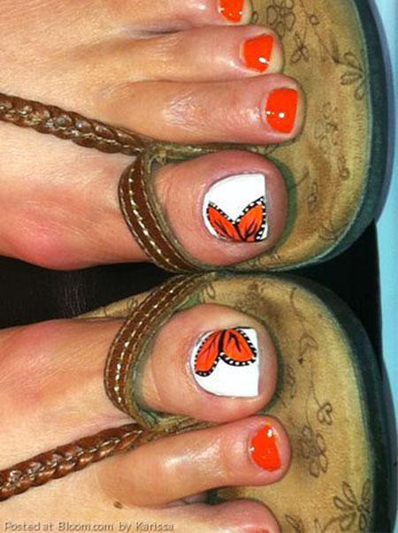 Orange Toe Nail Art, Toe Toes Cute Orange