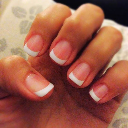 French Manicure Shellac Ideas