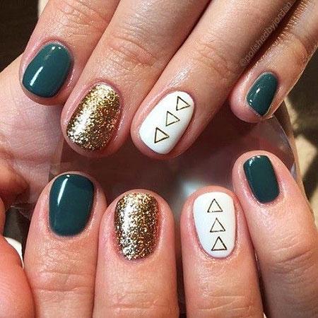 Manicure Best Fall Gold
