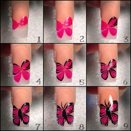 Manicure Butterfly Toes Spring