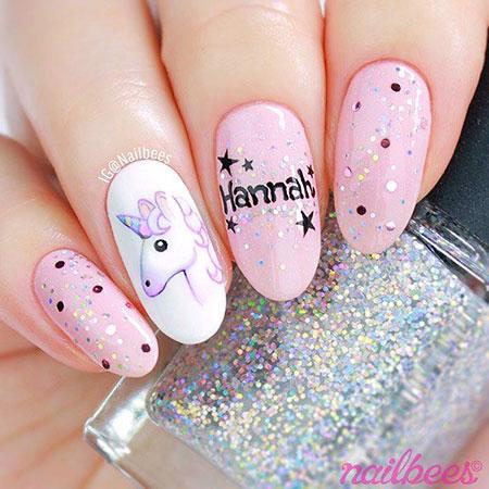 Unicorn Nail Design, Cute Girls Manicure Love