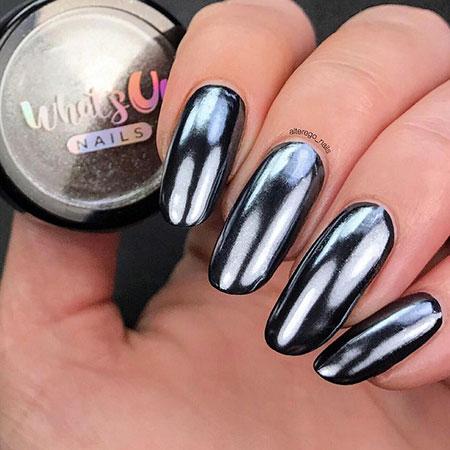 Polish Black Manicure Dark