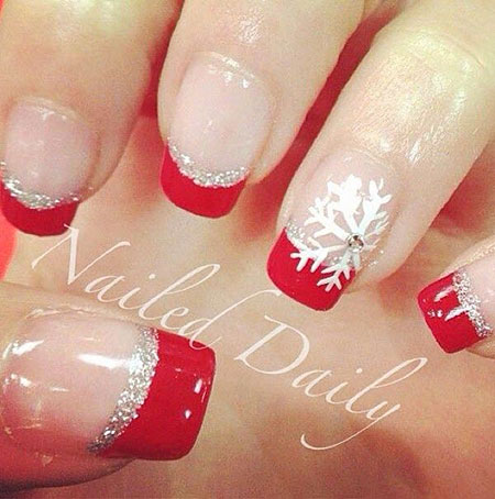Christmas Holiday Ongles French