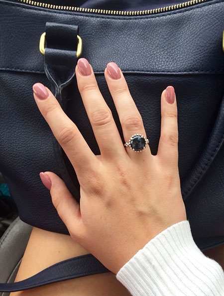 Engagement Blue Classy Rings