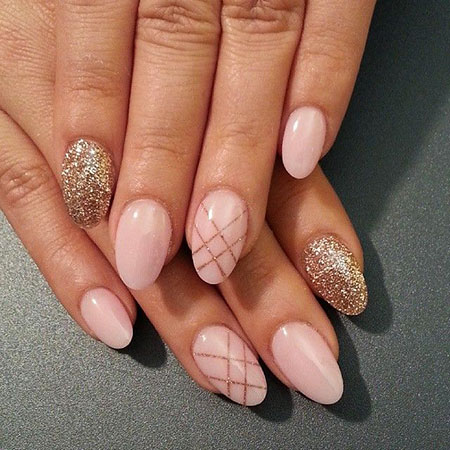Manicure Oval Glitter Smink
