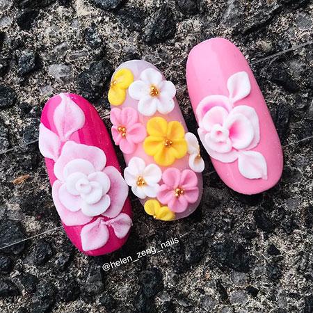 3D Gel Flower Details