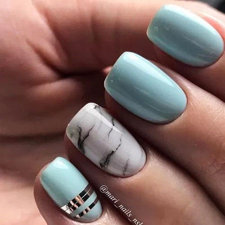 Short Manicure Cool Simple