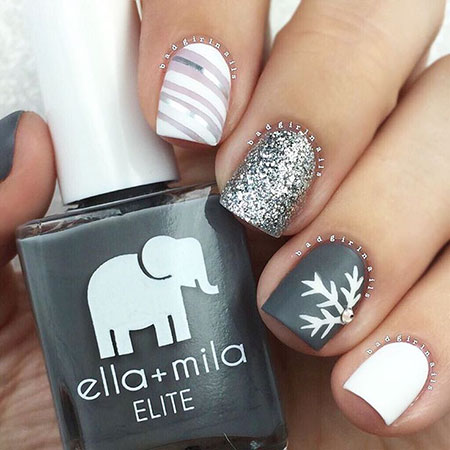 Winter Christmas Holiday Manicure