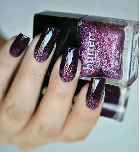 Black Polish Colors Purple