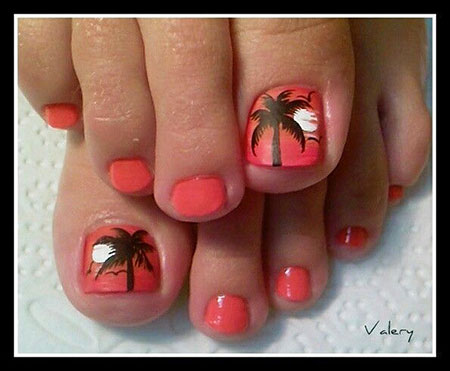 Toe Decoradas Coral Beach