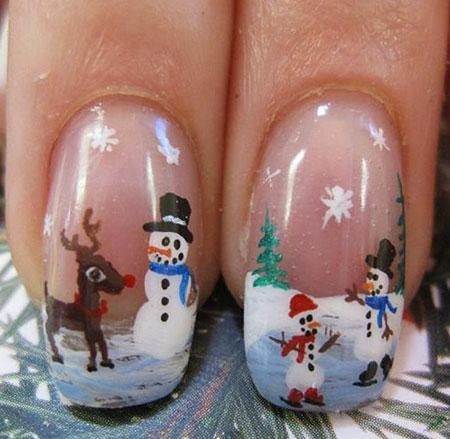 Christmas Snowman Sky Little