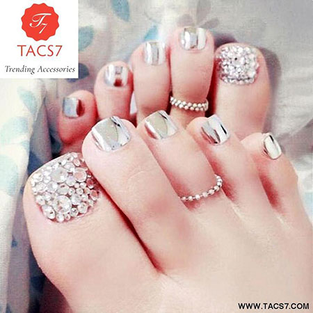 Toe Chic Foot Silver