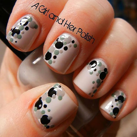 Easy Dots Nail Art, Short Simple Cool Photo