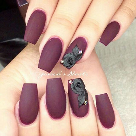 Manicure Red Fall Simple