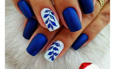 Matte Blue Nails Best Nail Art