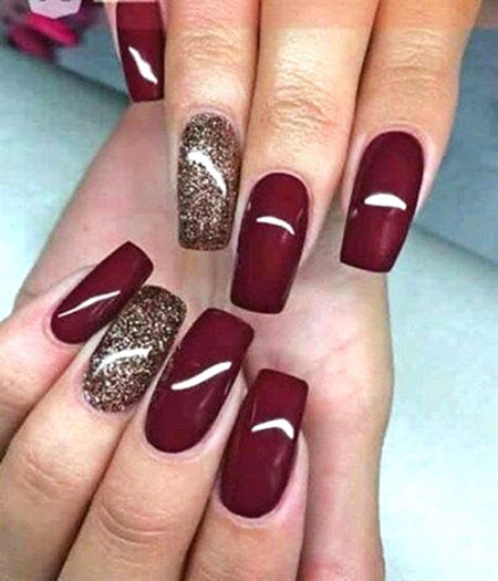 Dark Red Nails, Acrylic Fall Colors Winter