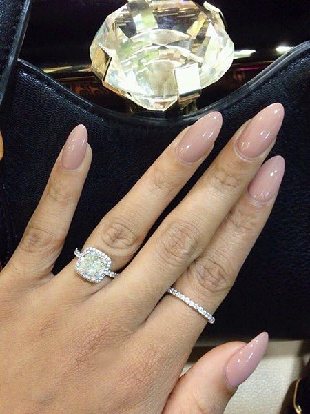 Classy Oval Nail Shape, Rings Engagement Love Black