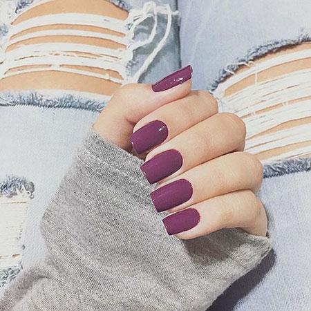 Short Square Acrylic Nails, Acrylic Manicure Cute Black