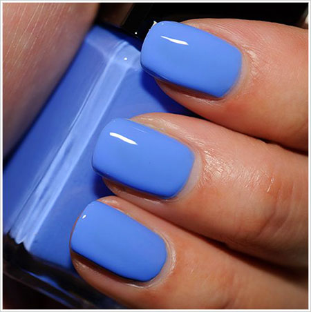 Teal Blue Nail Design, Blue Varnish Polish Photos