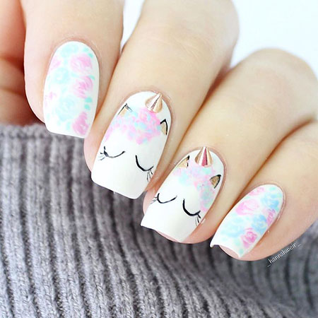 Cute Nails, Inspired Easter Manicure Floweral
