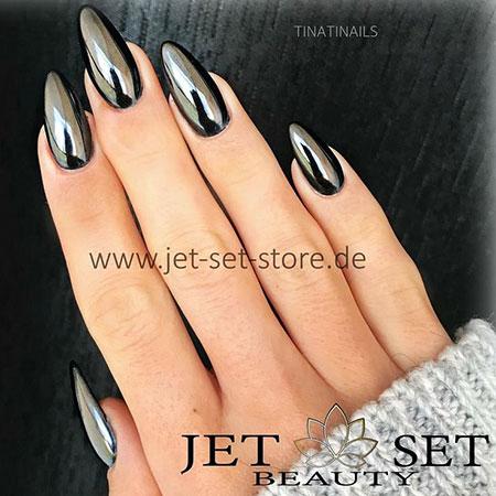 Stylish Long Black Nails, Black Manicure Stiletto