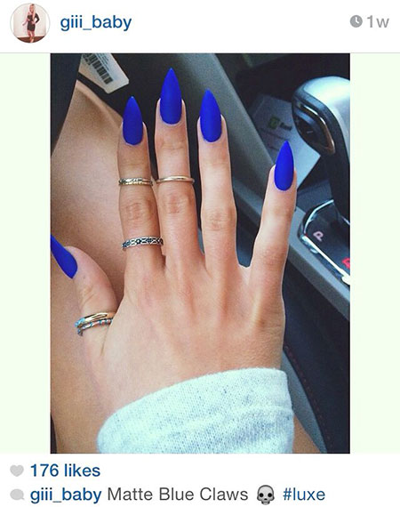 Blue Matte Acrylic Love