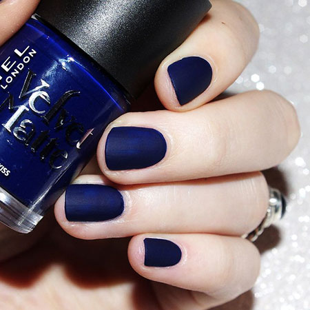 Matte Polish Christmas Blue