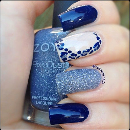 Blue Polish Manicure Navy