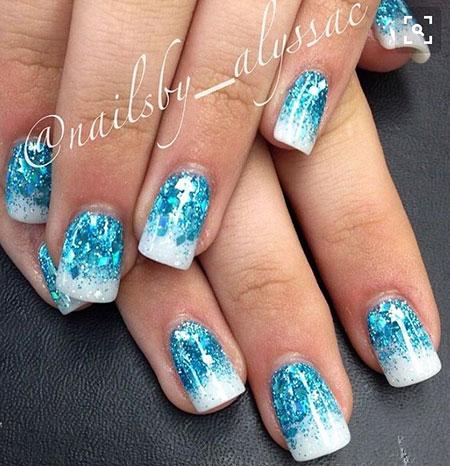 Glitter Winter Cool Blue