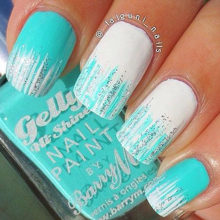 Polish Glitter Mint White