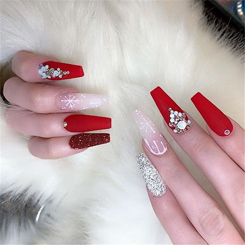 Christmas Nail Ideas Acrylic