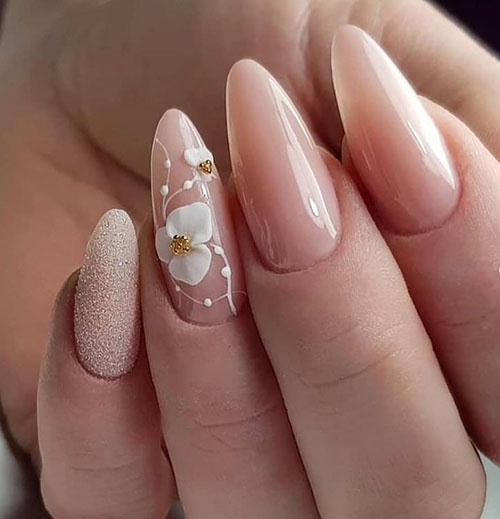 Super Short Almond Nails